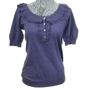 BANANA REPUBLIC ruffle blouse top